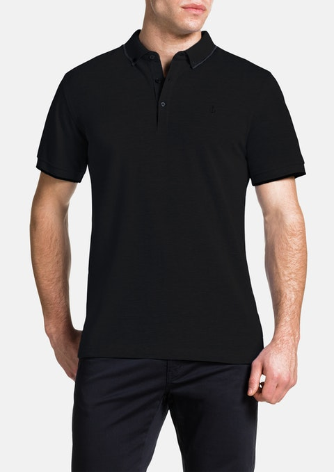 Black Essential Polo