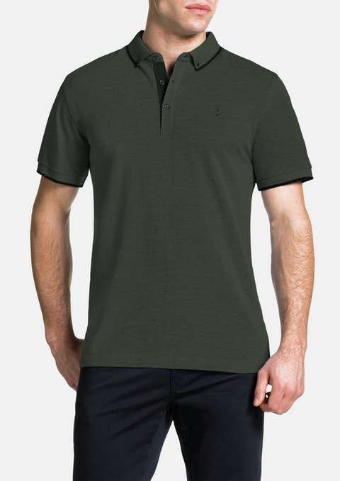 Khaki Essential Polo