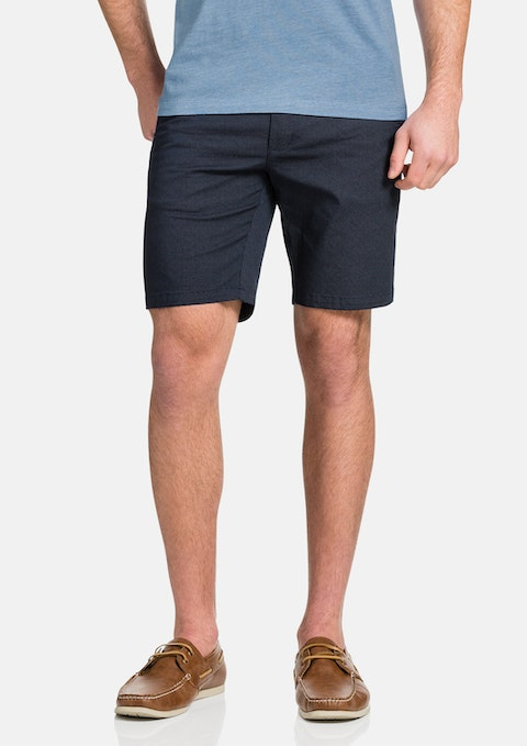 Navy Largo Stretch Short