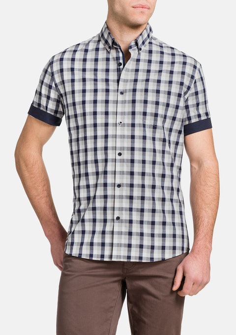 Navy Tucker Check Shirt