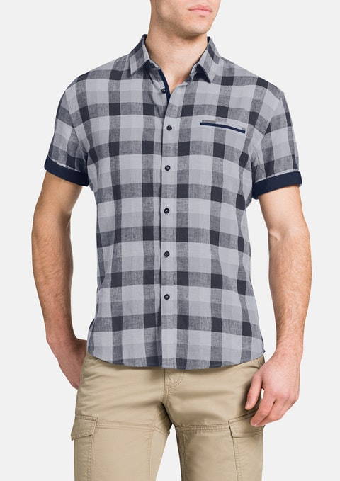 Grey Bradley Linen Check