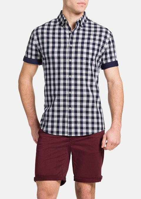 Navy Checkerboard Shirt