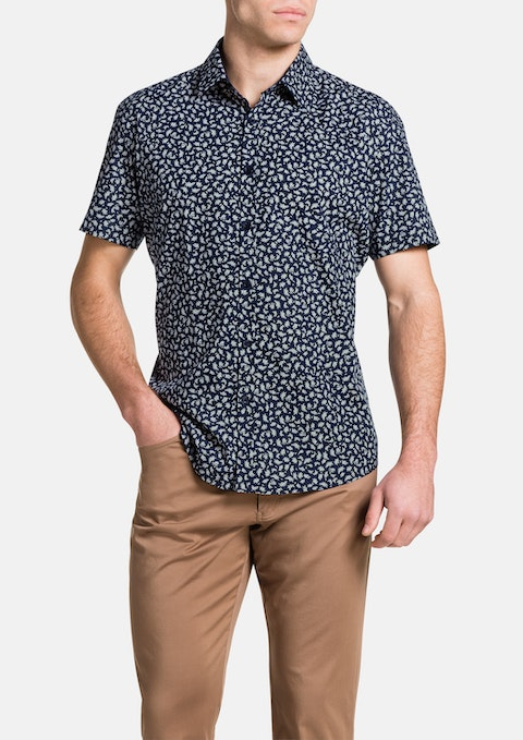 Navy Sampras Print Shirt