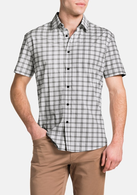 Black Agassi Check Shirt