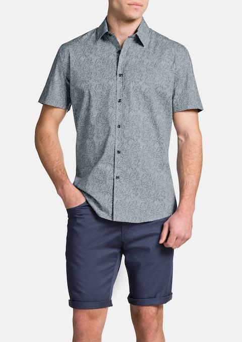 Navy Kelso Print Shirt