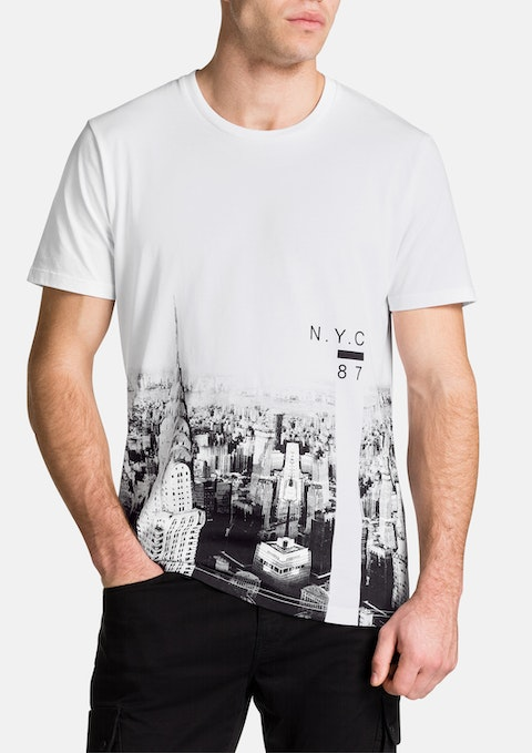 White New York Tee