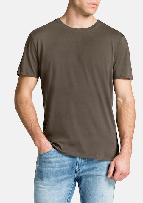 Khaki Essential Crew Neck Tee