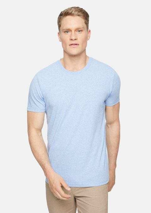 Light Blue Marle Essential Crew Neck Tee