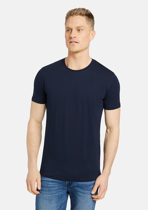 Navy Essential Crew Neck Tee