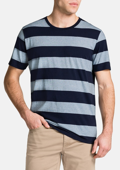 Blue Kerr Stripe Crew Neck Tee