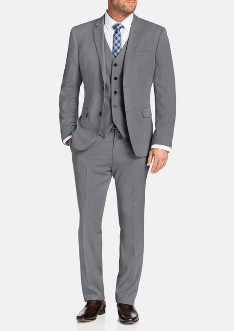 Silver Donahue Stretch 2 Button Suit