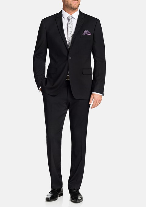 Charcoal Osgood Stretch 1 Button Suit