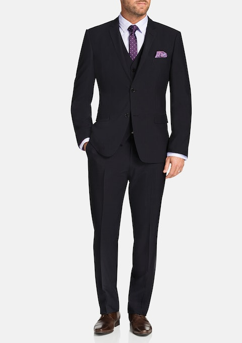 Charcoal Regan Stretch 2 Button Suit
