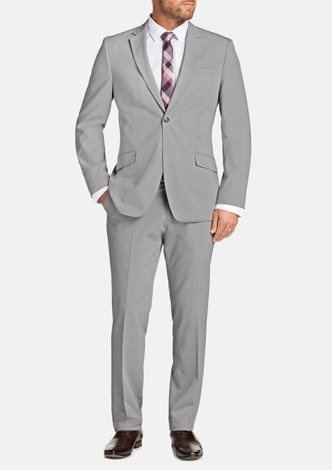 Cement Avery 1 Button Suit