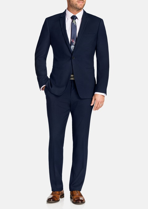 Midnight Harvey Stretch 1 Button Suit