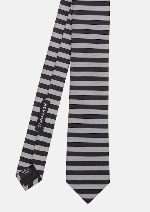 Black Horizontal Stripe Tie