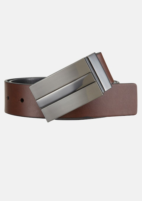 Tan/black Tucker Reversible Belt
