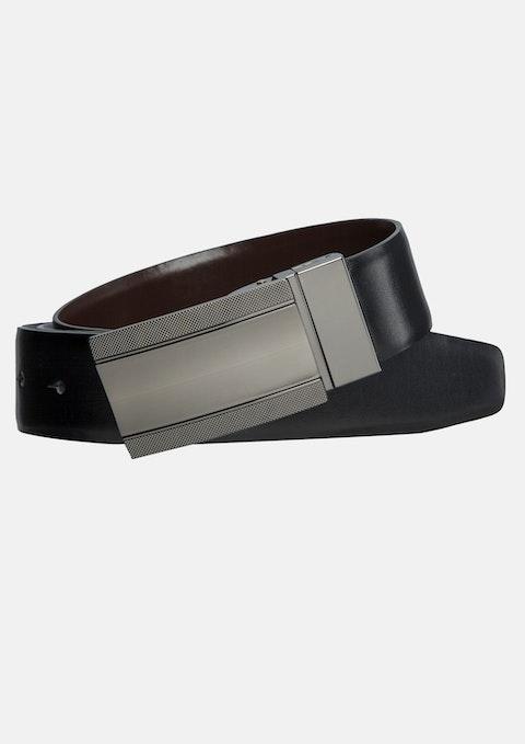 Black/choc Lomu Reversible Belt