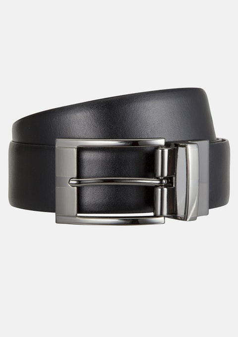 Black/tan Thomas Reversible Prong Belt