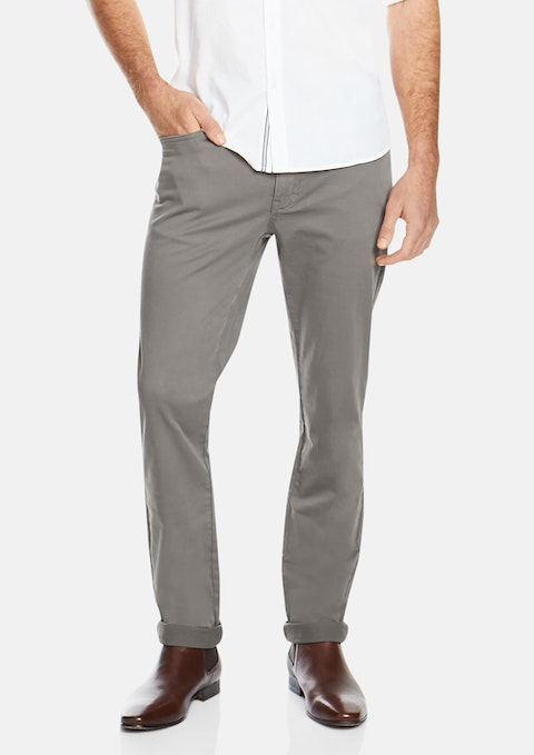 Pewter Benny Stretch  5 Pkt Pant