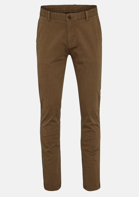 Mustard Tom Side Pkt Stretch Pant