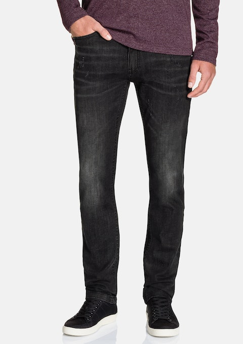 Grey Albany Tapered Stretch Jean
