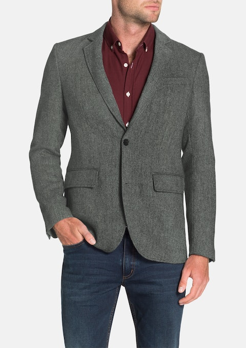 Grey Jethro Herringbone Jacket