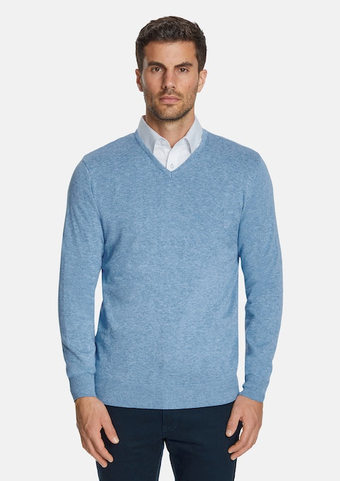 Sky Essential V-neck Knit
