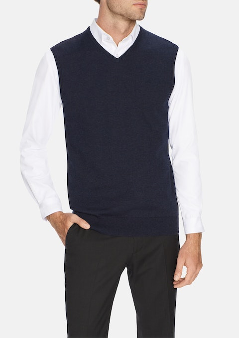 Navy Essential Vest