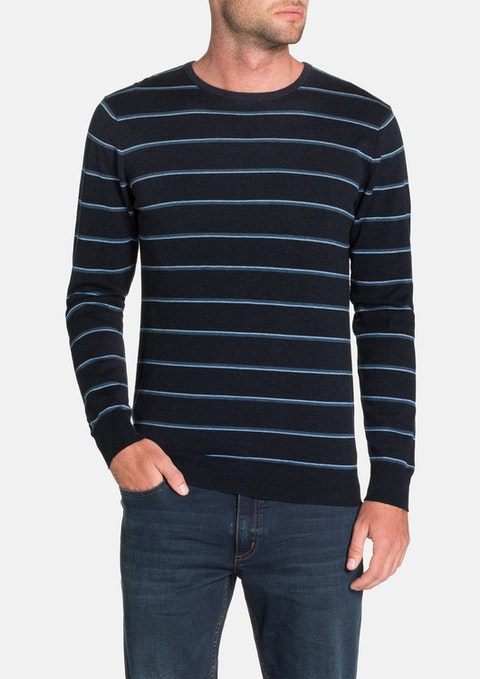 Navy Bentley Stripe Knit