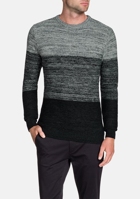 Black Kurt Space Dye Knit