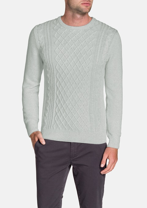 Ice Crew Neck Cable Knit