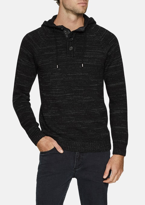 Charcoal Jamie Hooded Knit
