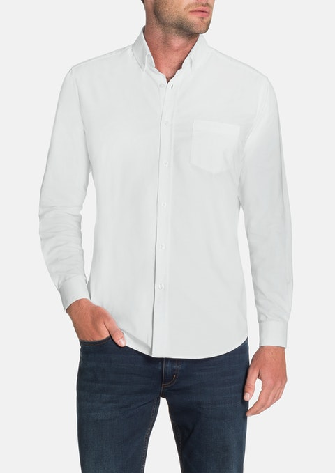 White Essential Oxford Shirt