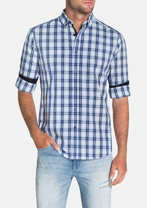 White Brody Check Shirt