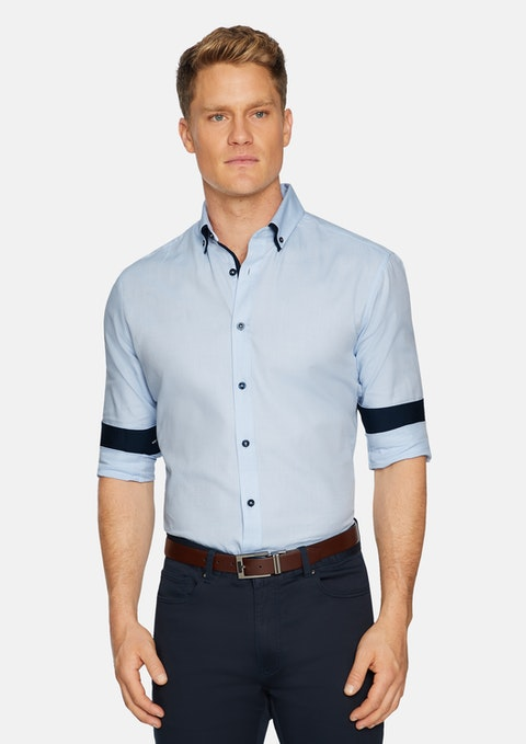 Sky Westworld Slim Textured Shirt