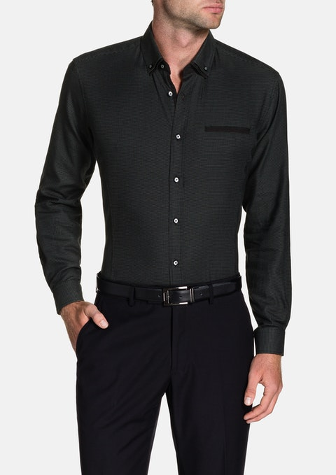 Black Harris Textured Shirt