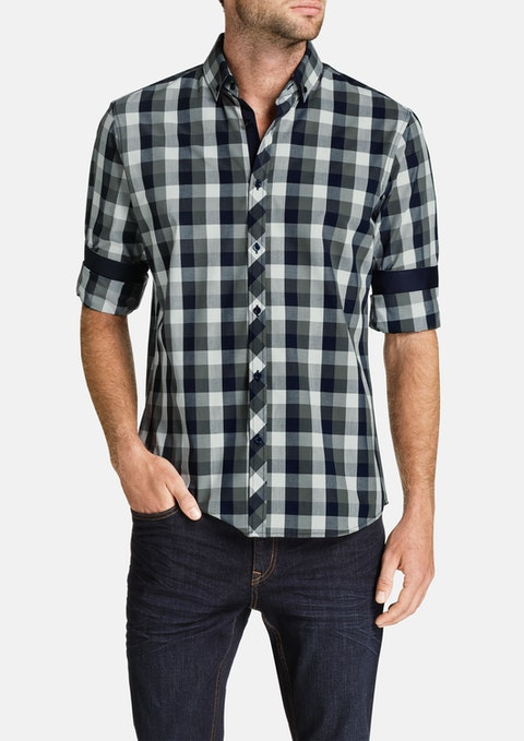 Charcoal Hassel Check Shirt