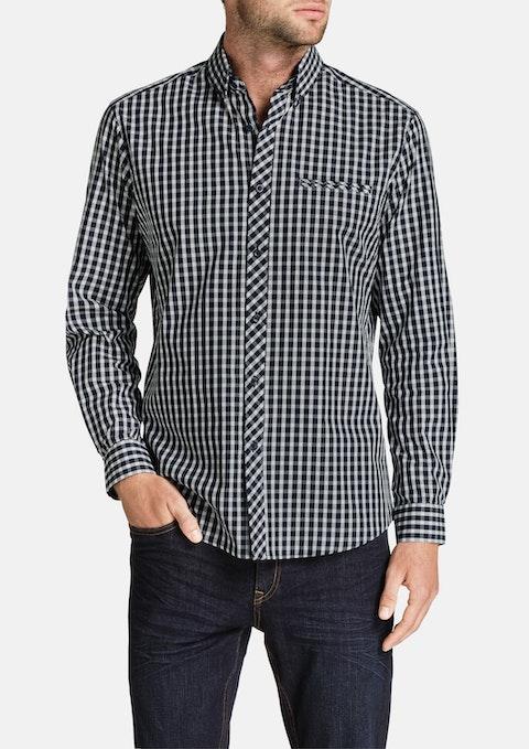 Navy Cedric Check Shirt