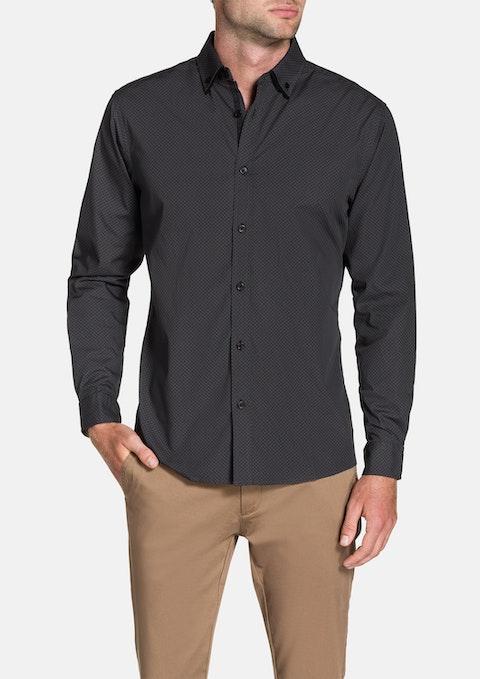 Charcoal Greg Print Shirt