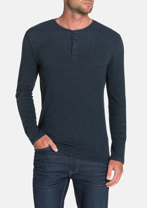 Denim Walker Henley Tee