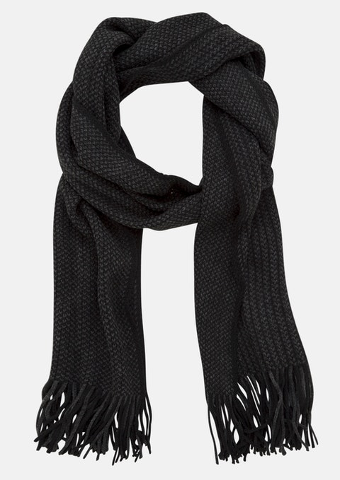 Charcoal Los Angeles Textured Scarf