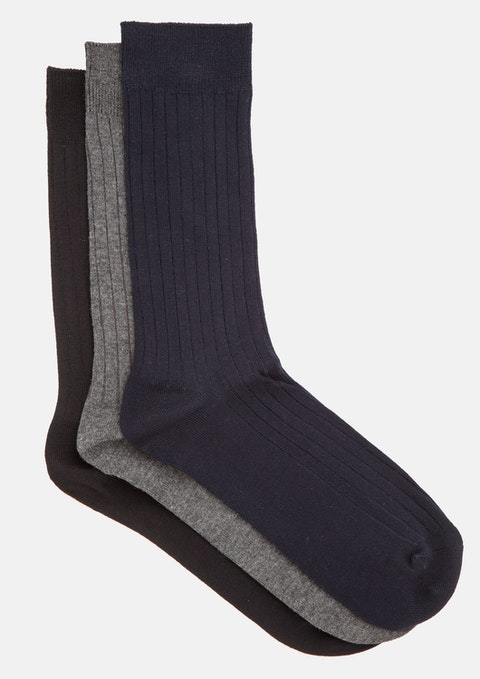 Assorted Bamboo 3pk Sock