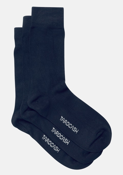 Navy Bamboo 3pk Sock