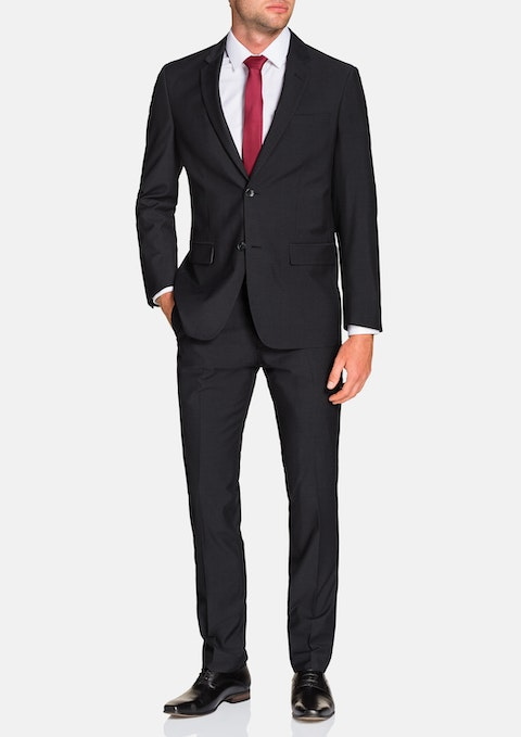 Charcoal Gideon 2 Button Suit
