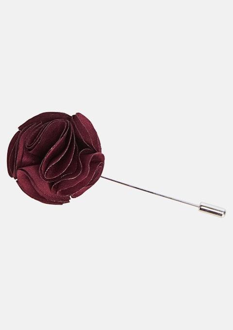 Burgundy Lapel Pin & Pocket Square Combo