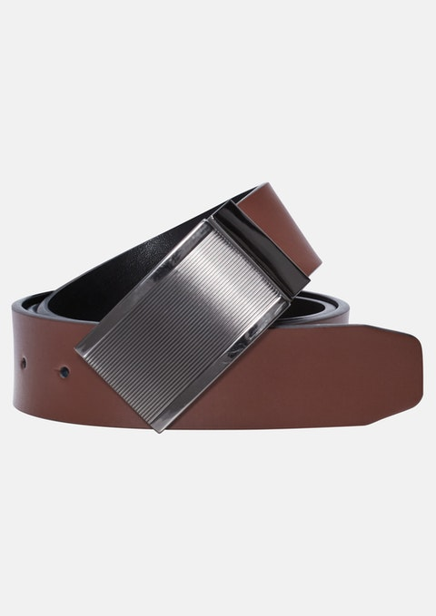 Tan/black Pollock Reversible Belt