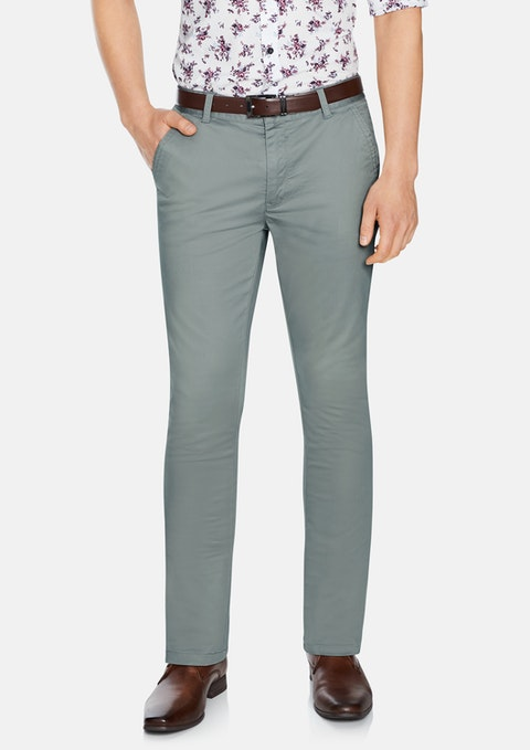 Pewter Jeremy Slim Stretch Pant