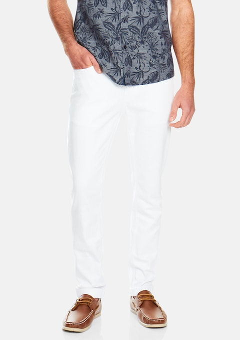 White Brent Tapered Jean