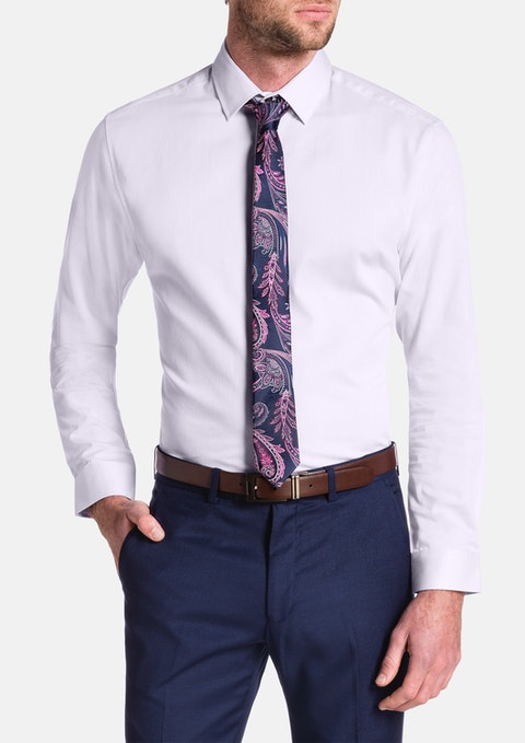 Pink Cyrus Slim Textured Dress Shirt